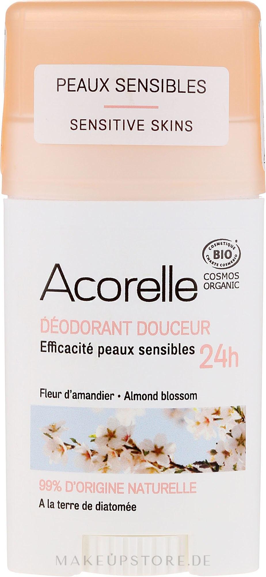 Deostick mit Mandelblüte - Acorelle Deodorant Stick Gel Almond Blossom — Bild 45 g