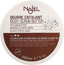 Düfte, Parfümerie und Kosmetik Peelingbutter für den Körper mit weißem Sand und Bio Sheabutter - Najel Peeling Beurre Exfoliant Body Scrub Butter