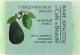 Glycerinseife mit Avocadoöl und Grüner Tee Extrakt - Le Cafe de Beaute Glycerin Soap — Bild N1