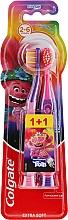 Düfte, Parfümerie und Kosmetik Kinderzahnbürste extra weich 2-6 Jahre Smiles violett, rosa 2 St. - Colgate Smiles Kids