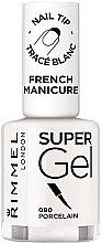 Düfte, Parfümerie und Kosmetik Gel Nagellack - Rimmel Super Gel French Manicure