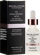 Düfte, Parfümerie und Kosmetik Feuchigkeitsspendendes und straffendes Gesichtsserum mit Hyaluronsäure - Makeup Revolution Skincare Plumping & Hydrating Serum 2% Hyaluronic Acid