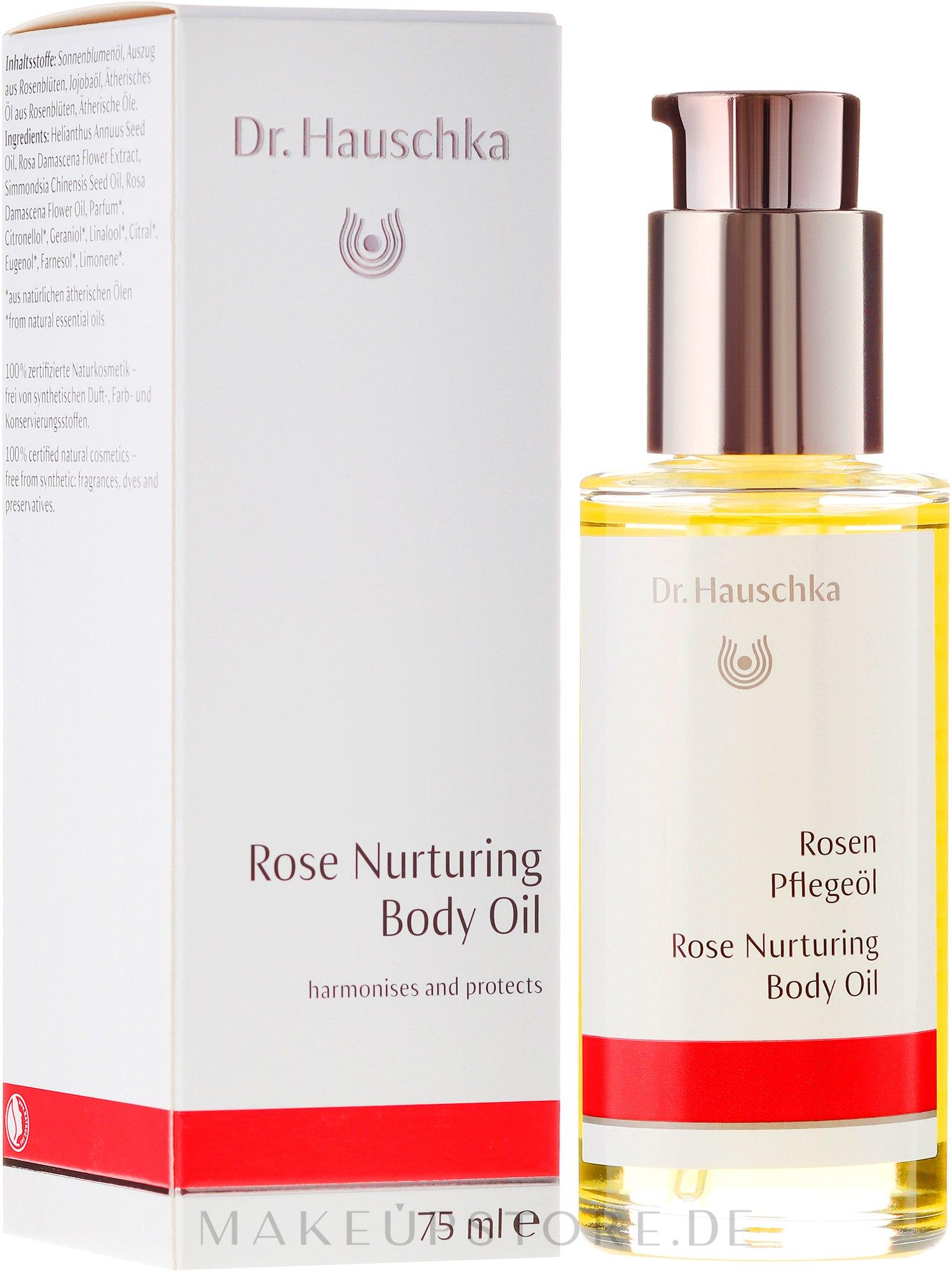 Pflegendes Rosenöl für den Körper - Dr. Hauschka Rose Nurturing Body Oil — Bild 75 ml