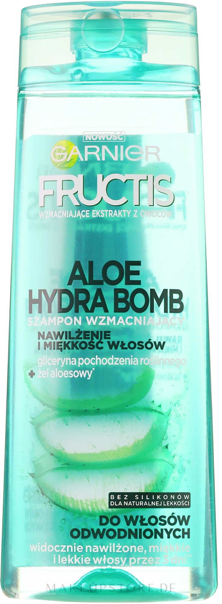 "Kräftigendes Shampoo ""Aloe Hydra Bomb"" - Garnier Fructis Aloe Hydra Bomb Szampon — Bild 400 ml"