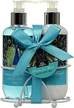 Düfte, Parfümerie und Kosmetik Körperpflegeset - Spa Moments Ocean & Mint Bath Gift Set (Duschgel 240ml + Körperlotion 240ml)