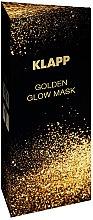 Düfte, Parfümerie und Kosmetik Gesichtsmaske mit Lösungsmittel, 18 Aminosäuren und Schimmer - Klapp Golden Glow Mask