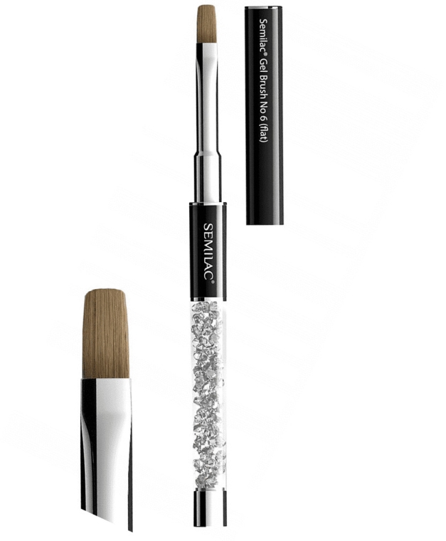 Nagelpinsel №6 - Semilac Gel Brush №6 Flat — Bild N2