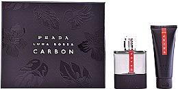 Düfte, Parfümerie und Kosmetik Prada Luna Rossa Carbon - Duftset (Eau de Toilette 100ml + After Shave Balsam 100ml)
