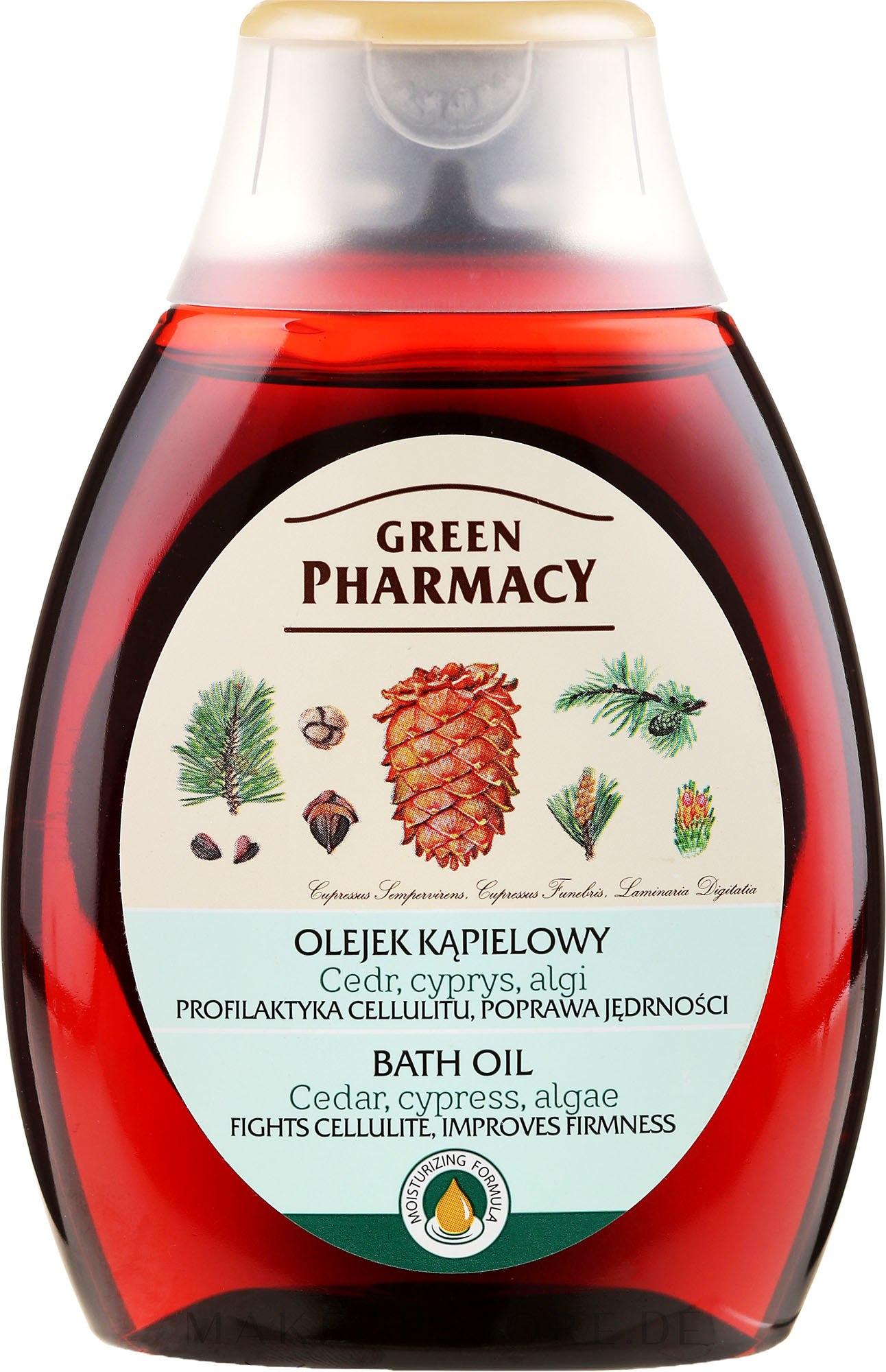 Badeöl mit Zeder und Zypresse - Green Pharmacy — Bild 250 ml
