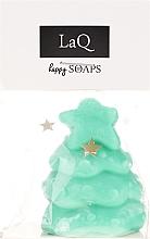 Handgemachte Naturseife Weihnachtsbaum mit Kiwiduft - LaQ Happy Soaps Natural Soap — Bild N1