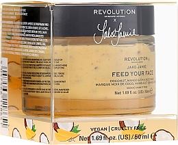 Düfte, Parfümerie und Kosmetik Gesichtsmaske mit Kokos, Mango und Chiasamen - Makeup Revolution Skincare X Jake Jamie Feed Your Face Coconut, Mango & Chia Seed Mask