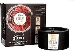 Düfte, Parfümerie und Kosmetik Soja-Duftkerze Mohogany Teakwood - House of Glam Raw Black Collection Mohogany Teakwood Candle