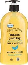 Düfte, Parfümerie und Kosmetik Shampoo und Duschgel mit Bananenduft und Aloe Vera-Extrakt - Bluxcosmetics Naturaphy