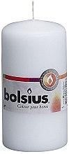 Düfte, Parfümerie und Kosmetik Stumpenkerze weiß - Bolsius Candle 120 mm x Ø60 mm