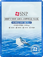 Düfte, Parfümerie und Kosmetik Verjüngende Tuchmaske mit Schwalbennest-Extrakt - SNP Birds Nest Aqua Ampoule Mask
