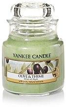 Duftkerze im Glas Olive & Thyme - Yankee Candle Olive & Thyme Jar — Bild N2