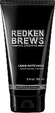 Düfte, Parfümerie und Kosmetik Modellierende Haarpaste mit Matteeffekt Mittlerer Halt - Redken Brews Liquid Matte Paste