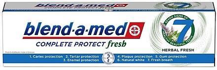 Zahnpasta Complete Protect Fresh 7 Herbal Fresh - Blend-a-Med Complete Protect Fresh 7 Herbal Fresh Toothpaste — Bild N1
