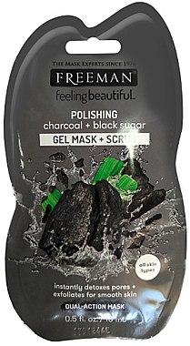 Gesichtsmaske mit Aktivkohle und schwarzem Zucker für glatte Haut - Freeman Feeling Beautiful Charcoal & Black Sugar Polishing Mask (Mini) — Bild N1