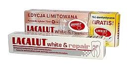Düfte, Parfümerie und Kosmetik Mundpflegeset - Lacalut White & Repair Set (Zahnpasta 75ml + Zahnseide)