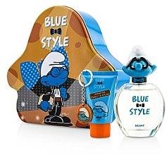 Düfte, Parfümerie und Kosmetik Marmol & Son The Smurfs Brainy - Duftset (Eau de Toilette 100ml + Duschgel 75ml + Schlüsselanhänger)