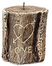 Düfte, Parfümerie und Kosmetik Dekorative Kerze Love Tree Stump - Artman Popular Candle Tree Stump Valentin Ø11.5 x H13 cm