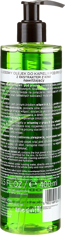 Feuchtigkeitsspendendes Bade- und Duschöl mit Aloe Vera - Bielenda Super Skin Diet Hydro Aloe — Bild N2