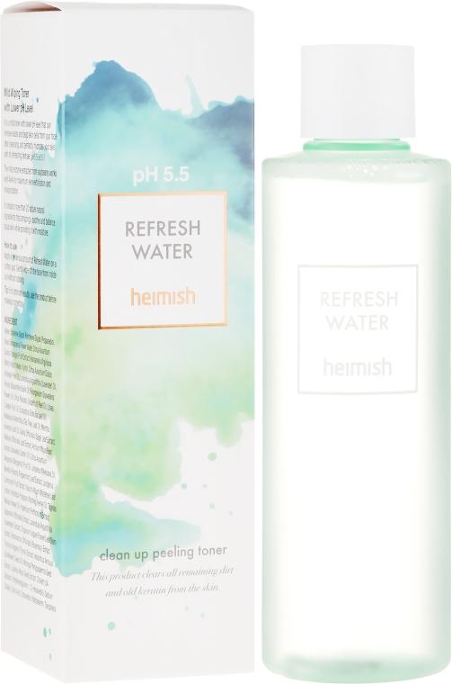 Erfrischendes Gesichtstonikum mit Peeling-Effekt - Heimish Refresh Water Clean Up Peeling Water — Bild N1
