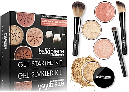 Düfte, Parfümerie und Kosmetik Bellapierre Get Started Kit Medium - Schminkset (2xPuder-Foundation/2x4g + Mineralpuder/4g + Gesichtsbronzer/4g + Puderpinsel + Rougepinsel + Concealer Pinsel)