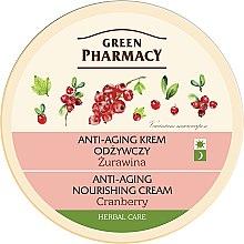 Düfte, Parfümerie und Kosmetik Anti-Aging Pflegecreme für Gesicht mit Preiselbeere - Green Pharmacy Anti-Aging Nourishing Cream Cranberry