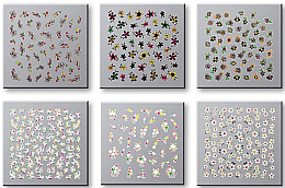Düfte, Parfümerie und Kosmetik Set Dekorative Nagelsticker 6 St. 42737 - Top Choice Nail Decorations Stickers Set