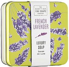 Düfte, Parfümerie und Kosmetik Luxuriöse Seife im Metallbox Französischer Lavendel - Scottish Fine French Lavender Soap In A Tin