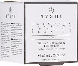 Düfte, Parfümerie und Kosmetik Verjüngendes Gesichtspeeling mit Glykolsäure - Avant Skincare Glycolic Acid Rejuvenating Face Exfoliator