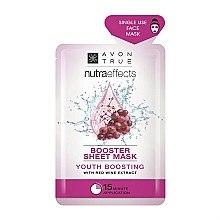 Düfte, Parfümerie und Kosmetik Gesichtsmaske mit Rotweinextrakt - Avon Nutraeffects Booster Sheet Mask