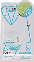 Düfte, Parfümerie und Kosmetik Feuchtigkeitsspendende Aqua-Tuchmaske - Dewytree Aqua Deep Mask