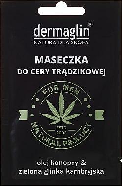 Gesichtsmaske für Männer mit Hanföl und grünem Ton - Dermaglin For Men Natural Product — Bild N1