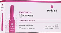 Düfte, Parfümerie und Kosmetik Verjüngendes Anti-Aging Gesichtsserum in Ampullen mit 15% Glykolsäure - SesDerma Laboratories Acglicolic Anti-Aging Flash Effect Ampoules