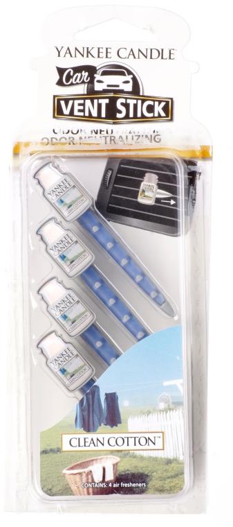 Auto-Lufterfrischer Clean Cotton Duftstick - Yankee Candle Clean Cotton Fragrance Car Vent Sticks