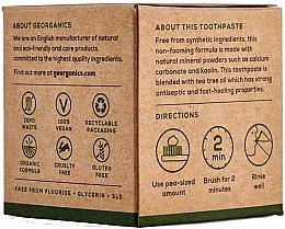 Natürliche Zahnpasta mit Teebaum-Geschmack - Georganics Tea Tree Natural Toothpaste — Bild N3