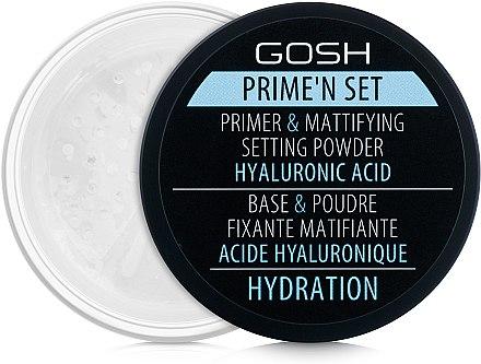 Primer und mattierendes Puder mit Hyaluronsäure - Gosh Prime'n Set Powder — Bild N1