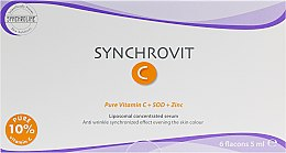 Anti-Falten Gesichtsserum mit Vitamin C, SOD und Zink - Synchroline Synchrovit C Serum — Bild N3