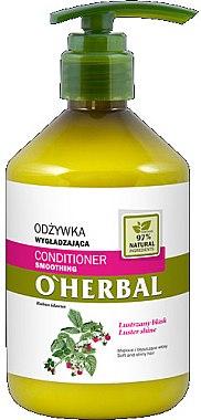 Glättende Haarspülung für mehr Glanz mit Himbeerextrakt - O'Herbal — Bild N1