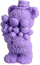Düfte, Parfümerie und Kosmetik Handgemachte Naturseife Teddybär mit Blumenstrauß violett - LaQ