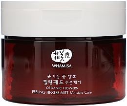 Düfte, Parfümerie und Kosmetik Gesichtsreinigungspads mit Peelingeffekt - Whamisa Organic Flowers Peeling Finger Mitt Moisture Care