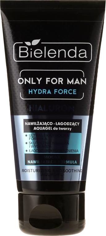 Feuchtigkeitsspendendes Gesichtsgel - Bielenda Only For Man Hydra Force Hialuron Face AquaGel — Bild N2