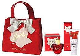 Düfte, Parfümerie und Kosmetik Lolita Lempicka Sweet - Duftset (Eau de Parfum 50ml + Körperlotion 75ml + Kosmetiktasche)