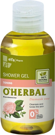 Duschgel mit Damastrosenextrakt - O'Herbal Shower Gel (Mini) — Bild N1