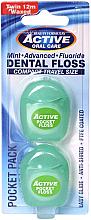 Düfte, Parfümerie und Kosmetik Gewachste Zahnseide mit Minzgeschmack 12 m - Beauty Form Active Oral Care Dental Floss (Reiseset)