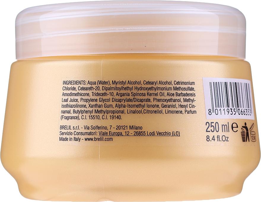 Tief pflegende Haarmaske mit Arganöl und Aloe Vera - Brelil Bio Traitement Cristalli d'Argan Mask Deep Nutrition — Bild N4