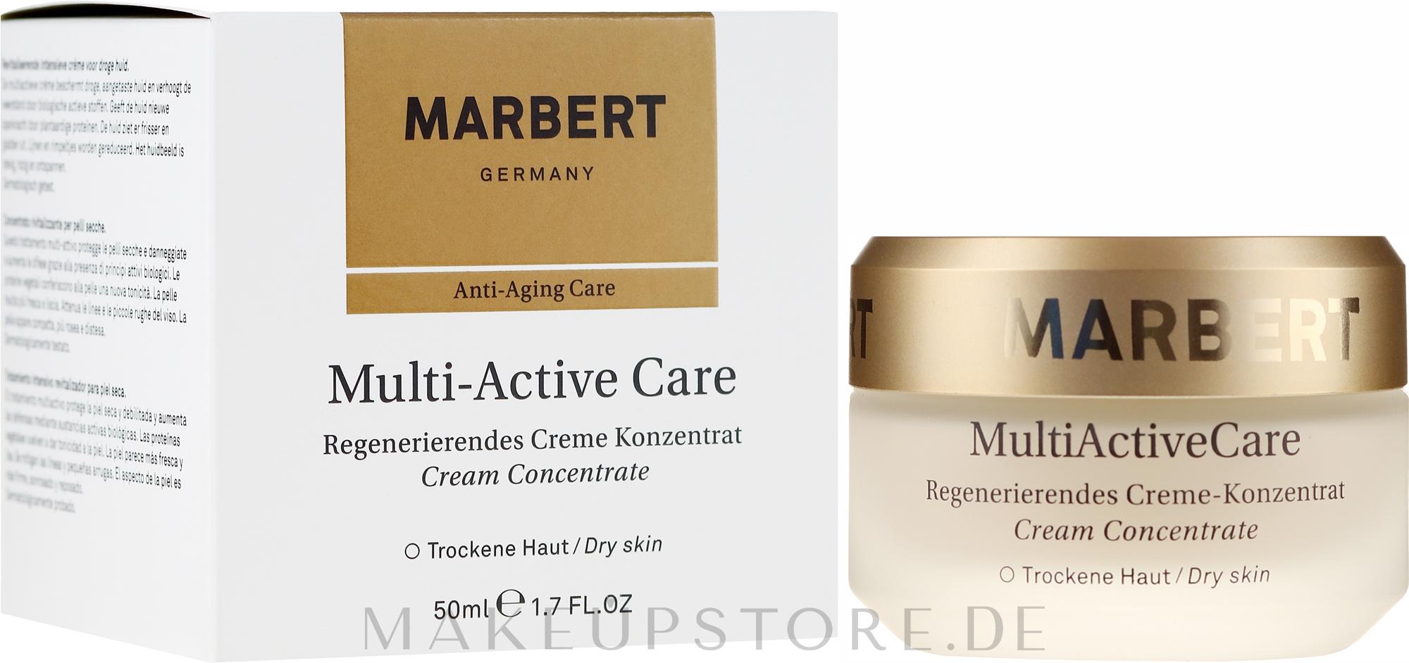 Regenerierendes Creme-Konzentrat für trockene Haut - Marbert Anti-Aging Care MultiActive Care Regenerating Cream Concentrate — Bild 50 ml